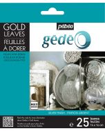 Pebeo Gedeo Silver Gilding Leaves 25 Pack