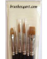 Brushes4art Watercolour Paint Brush Set of 6