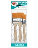 Pebeo Pop Art Oil & Acrylic Yellow Polyamide Spalters 3 Pack