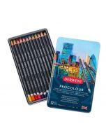 Derwent Procolour Professional Quality Colour Pencil 12 Tin I Pencils I Art Supplies