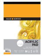 Daler Rowney Simply Acrylic Pad A4 I Art Paper I Art Supplies