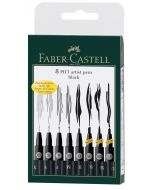 Faber-Castell Pitt Artist Pens Set of 8 (Black)