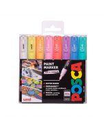 Uni POSCA Markers PC-1M Set of 8 Pastel Colours