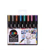 Uni POSCA Markers PC-5M Set of 8 Metallic Colours