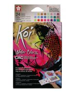 Sakura Koi Creative Art Watercolours Pocket Field Sketch Box 24 Colours