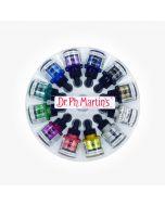 Dr. Ph. Martin's Iridescent Calligraphy Colour Ink 12 x 30ml Set #1