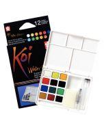 Sakura Koi Watercolours Pocket Field Sketch Box Set of 12 Colours