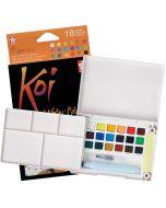 Sakura Koi Watercolours Pocket Field Sketch Box Set of 18 Colours