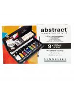 Sennelier Abstract Acrylic Black Wooden Box Set with 9 x 120ml Colours & Accessories