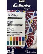 Pebeo Setacolor Shimmer Exploration Set 12 x 20ml