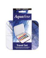 Daler Rowney Aquafine Watercolour 24 Pan Travel Set