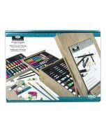 Royal & Langnickel Mixed Media 150pc Art Easel Box Set