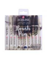Ecoline Brush Pen Greys Set of 10