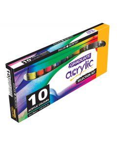 Daler Rowney Graduate Acrylic Paint Selection Set 10 x 38ml