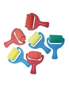 Major Brushes Foam Roller Brushes Assorted Set of 6