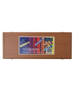 Inscribe Gallery Oil Pastels Wooden Box Set of 72