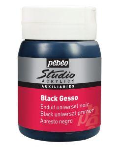 Pebeo Studio Acrylics Black Gesso Primer size 500ml