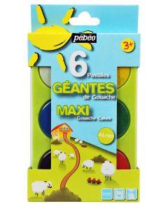 Pebeo Maxi Gouache Cake Paint Set of 6
