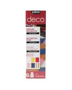 Pebeo Deco Gloss Paint Initiation Set 6 x 20ml