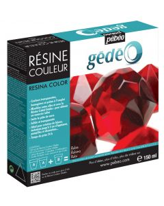 Pebeo Gedeo Colour Resin Making Kit in colour Ruby