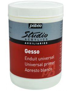 Pebeo Studio Acrylics White Gesso Primer 1 Litre
