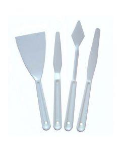 Major Brushes Plastic Palette Knives Pack of 4