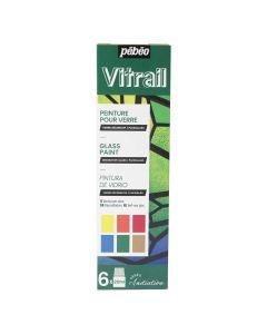 Pebeo Vitrail Glass Paint Initiation Set 6 x 20ml