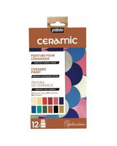 Pebeo Ceramic Exploration Set 12 x 20ml