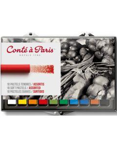 Conte a Paris Artists Soft Pastels 10 Assorted Colours