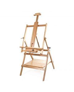 Wykeham Adjustable Wooden Studio Easel with Shelf