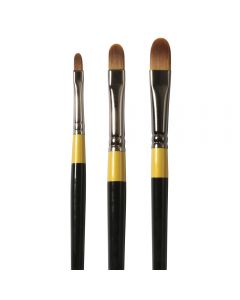 Daler Rowney System 3 Acrylic Long and Short Handled Filbert Brushes
