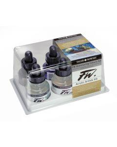 Daler Rowney FW Acrylic Ink Shimmering Colours 6 Set