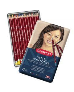 Derwent Pastel Pencil Portrait 12 Tin