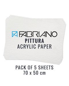 Fabriano Pittura Acrylic Paper 70 X 50cm (Pack of 5 Sheets)
