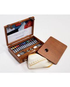 Sennelier Artists Oil Colour Wooden Box Set 15 x 21ml