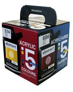 Sennelier Abstract Acrylic 5 Colour Box Set