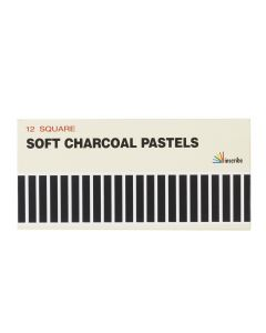 Inscribe 12 Square Soft Charcoal Pastels