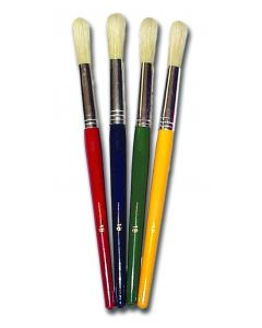 Major Brushes 4 x Children's Hog Brushes Size 18 I Painting I Art Supplies