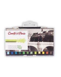Conte a Paris 12 Colour Crayons / Landscape I Sketching I Art Supplies