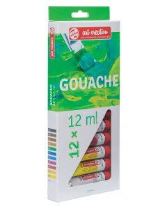 Talens Art Creation Gouache Paint Tube Set 12 x 12ml I Art Supplies