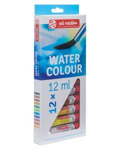 Talens Art Creation Water Colour Paint Tube Set 12 x 12ml I Art Supplies