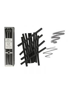 Coates Willow Charcoal 12 x Thick Sticks (7 - 9 mm)