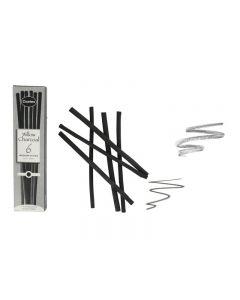 Coates Willow Charcoal 6 Medium Sticks (5 - 6 mm)