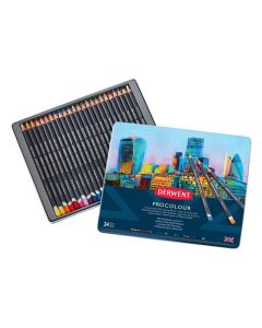 Derwent Procolour Professional Quality Colour Pencil 24 Tin I Pencils I Art Supplies