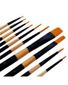 Studio 22 Golden Nylon Assorted Paint Brush Set of 10