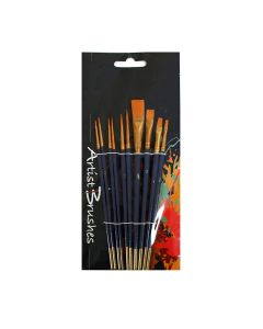 All Media Synthetic Paint Brush Assorted Set of 10