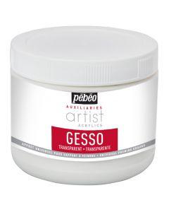 Pebeo Artist Acrylics Auxiliaries Transparent Gesso 500ml