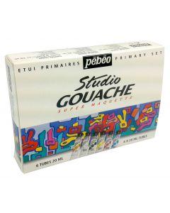 Pebeo Studio Gouache Set 10 x 20ml & Brush I Paint I Art Supplies
