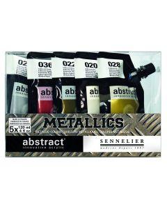 Sennelier Abstract Acrylic Metallics Set 5 x 120ml