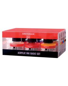 Amsterdam Acrylic Ink 6 x 30ml Basic Set
